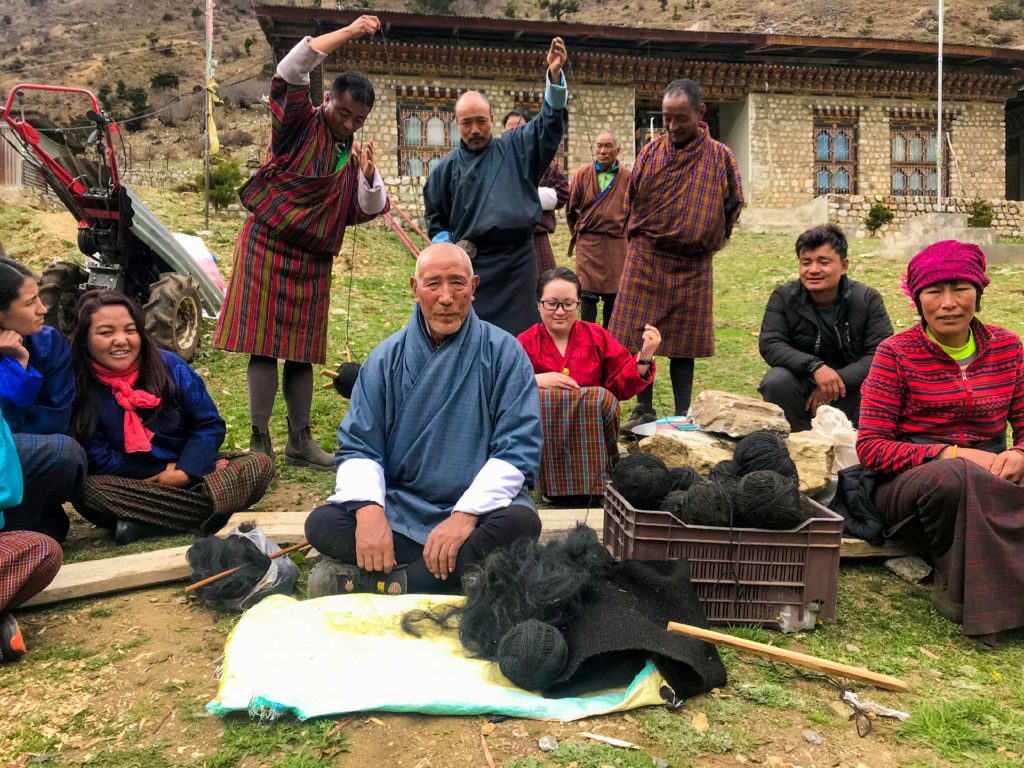 Traditional tent weaving training